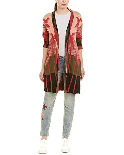 Scotch & Soda Maison Damen Longer Length Cardigan in Palm Tree Jacquard Pattern Pullover, Mehrfarbig (Combo A 17), X-Small
