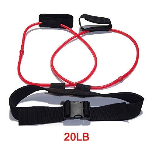 Mkiki Damen Booty Arsch Band Workout Fitness Widerstand Gürtel Ton Fest Gym Sport Workout - 20Lb