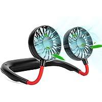 Shuangjishan Portable Neck USB Rechargeable Hand-Free Personal Fan