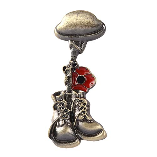 Oce180anYLV Kreative Brosche Anstecknadel Soldat Veteran Helm Stiefel Emaille Brosche Pin Hemd Jacke Badge, 1, Einheitsgröße