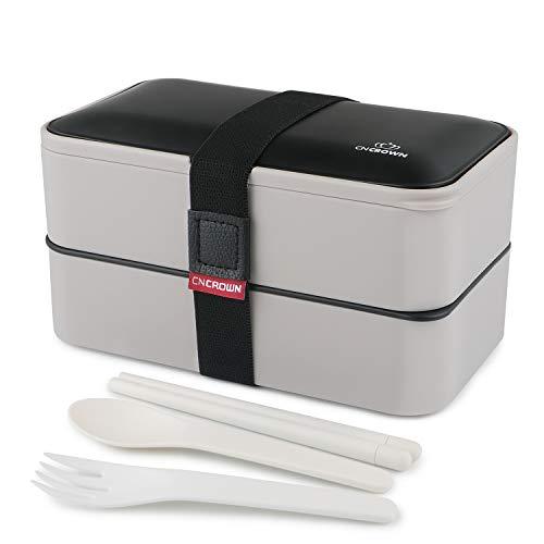 UUQ Leakproof Lunch Bento Box 2 Ebenen und Teiler Wiederverwendbare Besteck-Lunchboxen Behälter für Mikrowellen-Gefriergeräte Geschirrspüler Bento-Boxen für Kinder Erwachsene Work School, BPA-frei