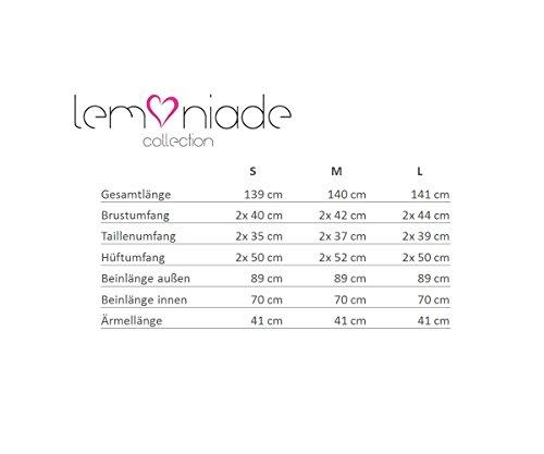 Lemoniade eleganter Jumpsuit mit 3/4-Ärmel und elegantem Wasserfallkragen, dunkelgrau - 5