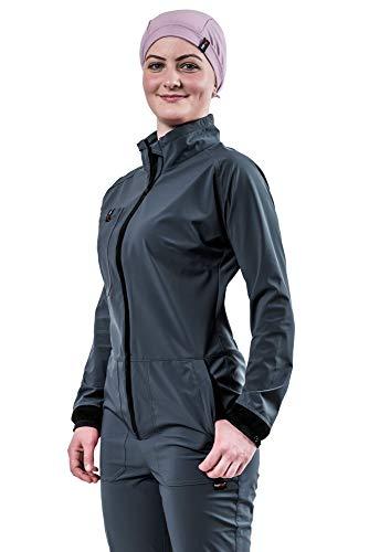 hairtex Overall Damen   Arbeitsanzug   Schutzanzug   Schützt zuverlässig vor Stallgeruch   Wasserdichtes Material   Schmutzbeständig   Atmungsaktiv (Anthrazit, S)