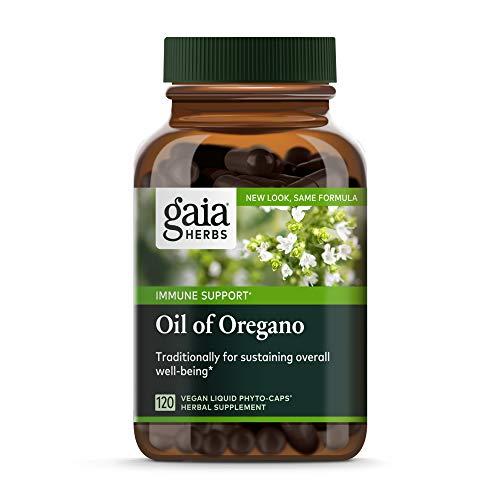 Gaia Herbs Oil of Oregano, Vegan Liquid Capsules, 120 Count - Immune...