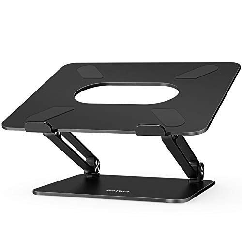 Laptop Stand, Boyata Laptop Holder, Multi-Angle Stand with Heat-Vent to Elevate Laptop, Adjustable Notebook Stand for Laptop up to 17 inches, Compatible for MacBook, HP Laptop and so on - Black