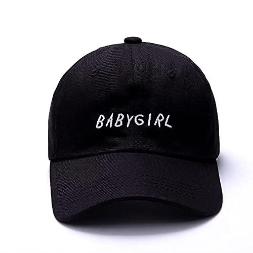 BOIPEEI Baseball Caps, Dad Hat for Man Woman, Baby Girls Cotton Baseball Cap Trendy Embroidered Black Hat for Men and Women DadLK1FD915