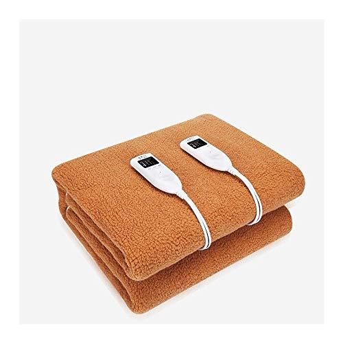 Braune waschbare, schnell beheizbare Heizdecken Dual-Control-Thermostat für mehr Sicherheit Elektrische Warmwasserdecke für den Haushalt (Farbe: Braun Größe: 150 x 180 cm (59,06 x 70,87 Zoll))