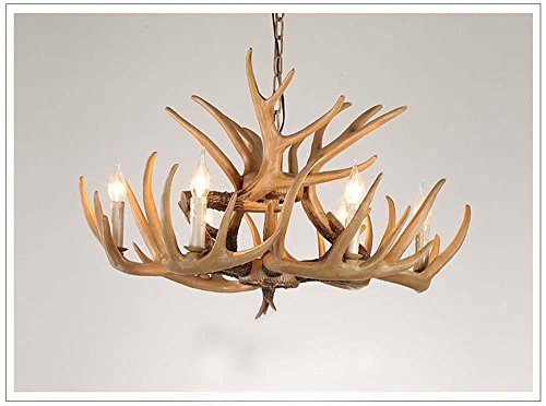 BBSLT Retrò 6 Resina lampadario di corna di cervo