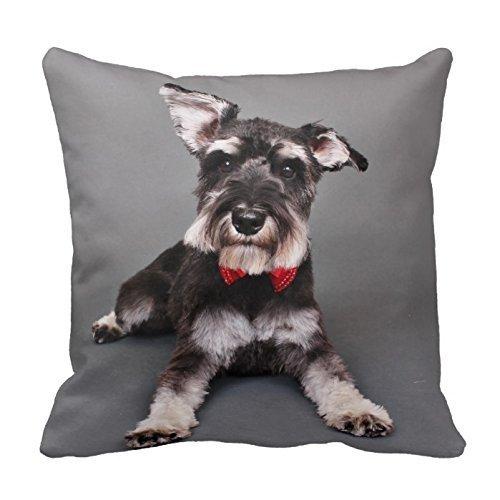 Pillowcase Generic Custom Pillow Cover Cotton 18 X 18 Twin Sides Schnauzer - Tom Dooley Throw