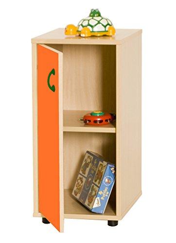 Mobeduc 600216HPS19-Mobile per sotto/armadio a 2 ripiani, in legno, colore: arancione/naturale legno, 40 x 36 x 76,5 cm