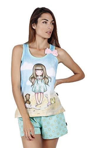 SANTORO Pijama Tirantes Hello Summer para Mujer