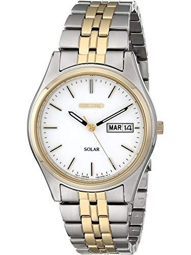 Seiko Solar Herren-Uhr Edelstahl mit Metallband SNE032P1