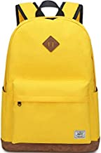 Backpack for Women, Mygreen Water Resistant High School Girls Bookbag Travel Backpack for Teens with Water Bottle Pockets Yellow