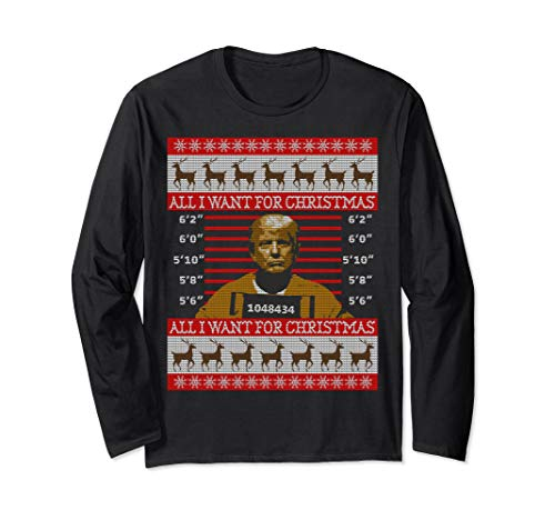 Trump in Prison Ugly Christmas Sweater Long Sleeve T-Shirt