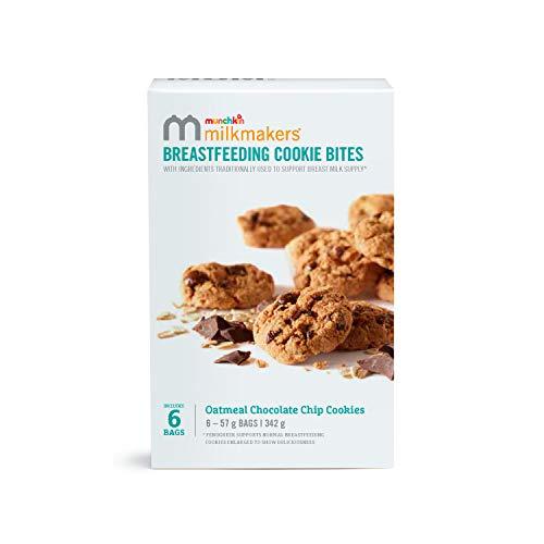 Munchkin Milkmakers Oatmeal Chocolate Chip Breastfeeding Cookie Bites, 342 g, 6 Pack