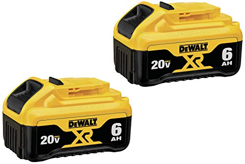 DEWALT (DCB206-2) 20V MAX Battery, Premium 6.0Ah Double Pack