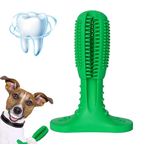 Ranphykx Dog Toothbrush Stick Dental Care Brushing Stick Effective Toothbrush for Dogs Natural Rubber Bite Resistant Toys for Dogs Pets Oral Care