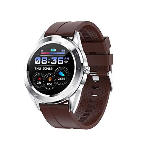 HFGH 2021New Y10 Smart Watch Bluetooth Anruf Sport Fitness Band Herzfrequenz Blutdruckprüfung Männer Musikuhr Frauen Smart Watch PK x6,Braun