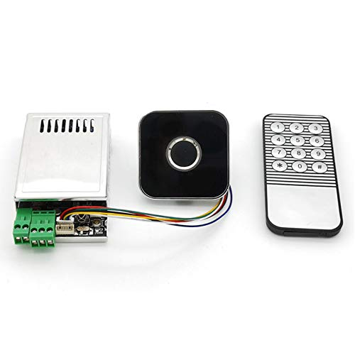QBLDX Kapazitives Modul Zur Erkennung Von Fingerabdrücken Fingerabdruckscanner-Sensor K216 + R502-AW Mit Fernbedienung Geeignet Für Die Zugangskontrolle Geldschrank