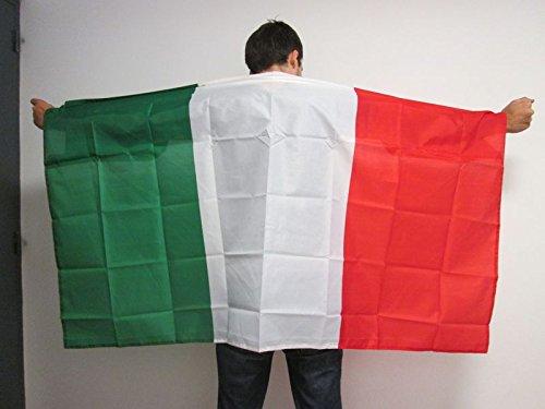 AZ FLAG UMHANGFLAGGE Italien 150x90cm - ITALIENISCHE Cape Fahne 90 x 150 cm - flaggen