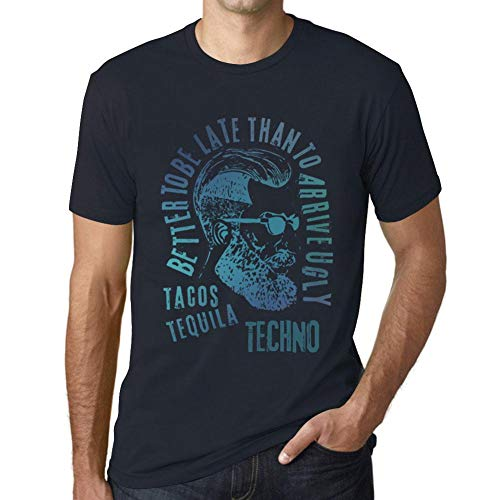 One in the City Hombre Camiseta Vintage T-Shirt Gráfico Tacos, Tequila and...