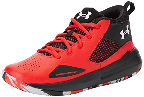 Under Armour Unisex-Kinder Grade School Lockdown 5 Basketballschuh, Versa Red Black White 601, 38.5 EU