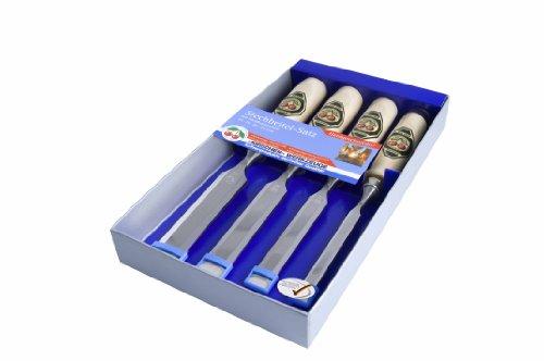 Kirschen 1181000 - Juego de formones de carpintero (mango de madera de carpe blanco, 4 piezas, 10-26 mm)