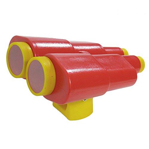 WICKEY Fernrohr XXL Kinder-Fernglas Teleskop, rot-gelb, 300x260x170mm, Kunststoff