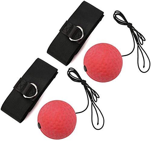 QING YUAN 2 unids/set bola de boxeo montada en la cabeza, lucha entrenamiento rebote respuesta bola accesorios para equipos de fitness
