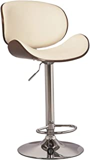 Ashley Furniture Signature Design - Bellatier Tall Upholstered Swivel Barstool - Contemporary Style - Brown/White