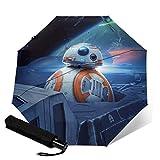 Star Wars - Paraguas de viaje plegable y portátil a prueba de viento