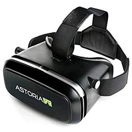 Astoria VR (Latest Edition) 3D Immersive Virtual Reality Headset, Glasses for 3D Videos Movies Games, Fits with iPhone, Samsung, HTC, LG, Sony, Moto Smartphone (Black)