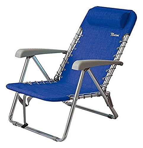 BERTONI Sol Textileno Silla para Acampada y Exterior, Azul, Tamaño Único
