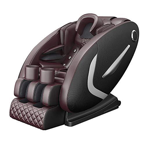 NCBH Massage Sessel, Massagestuhl, Massagestuhl Elektrisch - Professionelles Relax Sofa Armchair 3D Shiatsu mit 28 Massageprogrammen - Luftmassagesystem - 0 Schwerkraft,Black + Brown