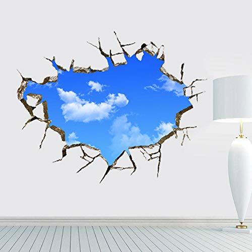 Decors Girlblue hemel en wit wolken 3D Solid plafond muur Stickers woonkamer bank achtergrond muur decoratie Stickers