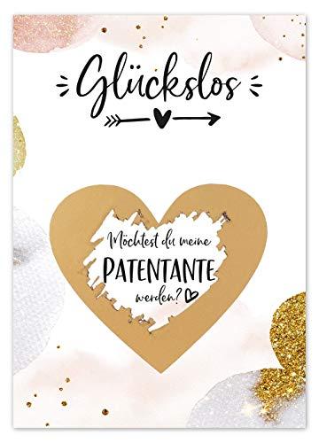 JoliCoon Rubbelkarte Patentante fragen - Willst du meine Patentante sein