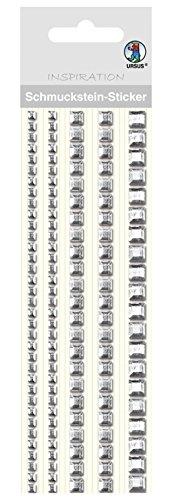Ursus 75030001 - Schmuckstein Sticker Bordüren, quadratisch, silber