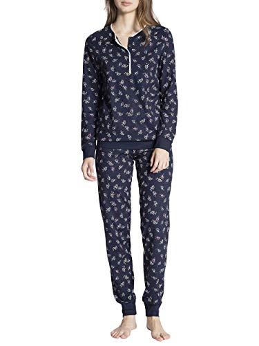 CALIDA Cosy Pleasure Pyjama mit Bündchen Damen