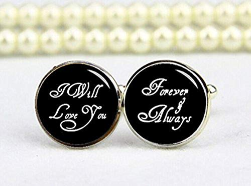 I will Love You, Forever et toujours Boutons de manchette, personnalisé Mariage Boutons de manchette