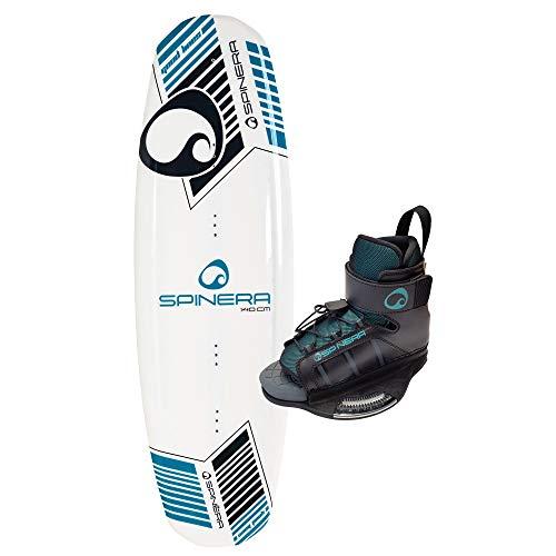SPINERA Good Lines Wakeboard Set - Wakeboard mit 3 Stage Rocker und Einstellbarer Bindung