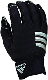 adidas NastyFAST Adult Football Lineman/Linebacker Gloves, Black/Black, Medium