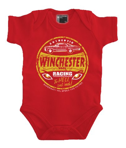 Touchlines Mr Fusion- Winchester Bros Racing Body, Rot (Red), 9 Mois Mixte bébé