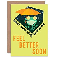 GET WELL SOON UNDER WEATHER NEW ART GREETINGS GIFT CARD