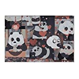 We Bare Bears pan.da Cute.jpg Area Rugs Flannel Rugs for Warm Indoor Kitchen Living Room Bathroom Bedroom Home Decor Floor Mats All Season 36 x 24inch