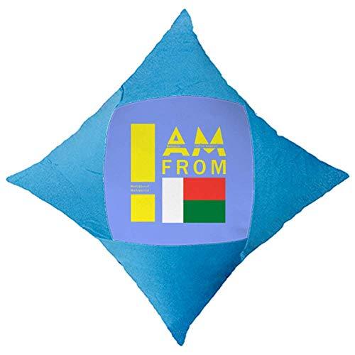 OFFbb-USA I Am from Madagascar - Funda de cojín azul para cama de coche