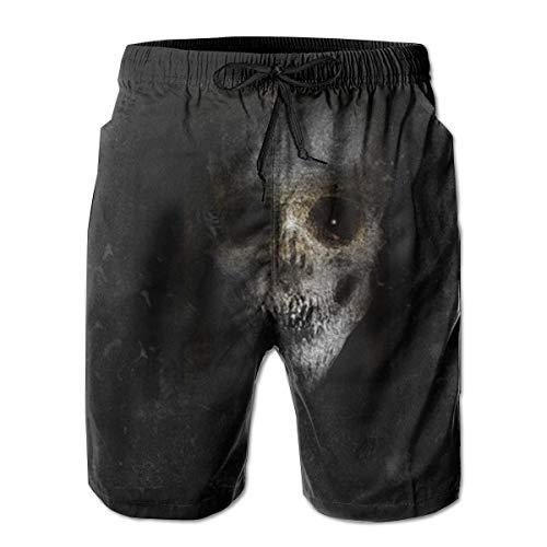 Herren Board Shorts Scary Horror Hintergrund mit gruseligen Monster Badehose XXL