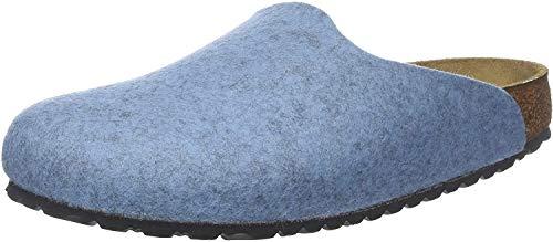 Birkenstock Amsterdam Lana, Zapatillas de Estar por casa con talón Abierto Mujer, Azul (Melange Light Blue Melange Light Blue), 36 EU