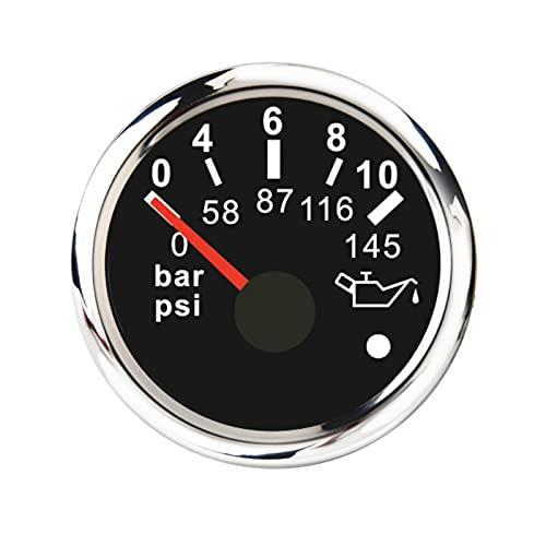 SHANG-JUN 깊이 연료 초원 자동차 보트 오일 압력 게이지 0-5 바 0-73 PSI   0-10 바 0-145 RV 트럭 오일 프레스 미터에 대한 0-145 PSI (색상 : BS 0-10BAR)