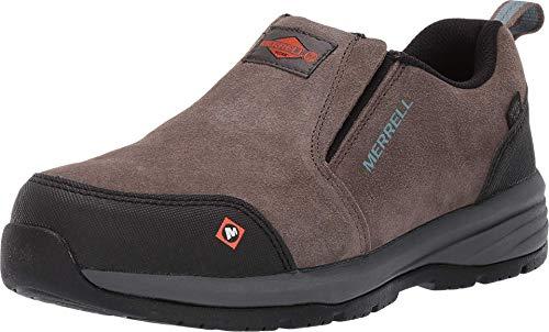 Merrell Women's Windoc Moc Waterproof Steel Toe Work Shoes Construction, Boulder, 5.5