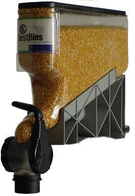 The Best Bins, 4-Gallon Gravity Bin Dispenser, 16'H x 18'D x 4.75'W, 8 oz. Portion Control